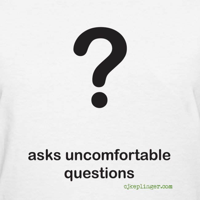Punctuation Personality: Question fitted tee