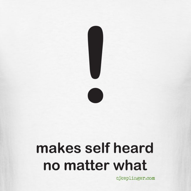 Punctuation Personality: Exclamation Tee
