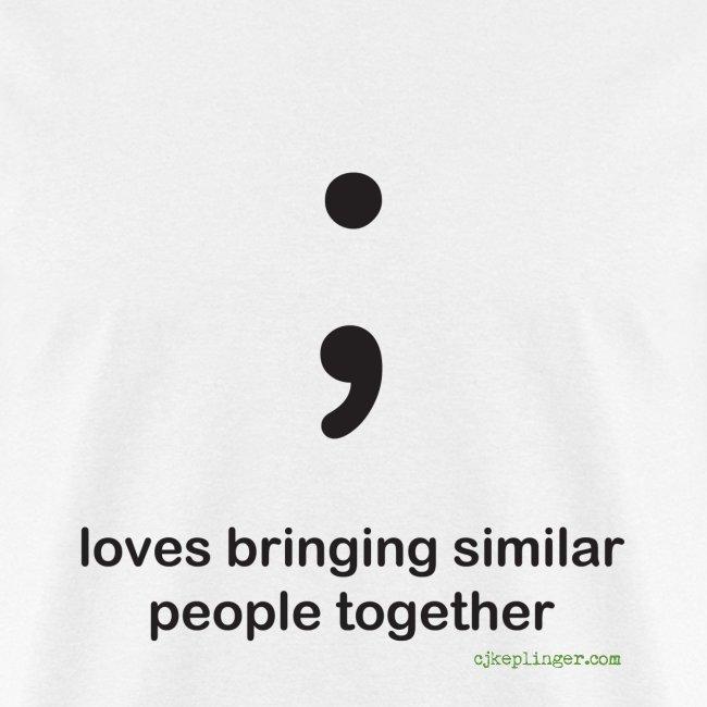 Punctuation Personality: Semicolon Tee