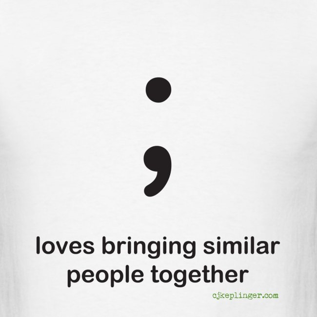 Punctuation Personality: Semicolon Tee