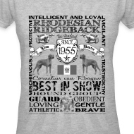 Design ~ Women's Rhodesian Ridgeback 'Best in Show' T shirt