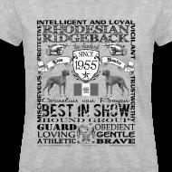 Design ~ Women's Rhodesian Ridgeback 'Best in Show' T shirt