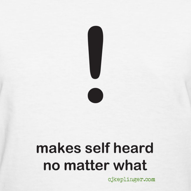 Punctuation Personality: Exclamation fitted tee