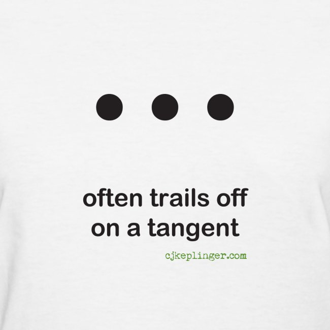 Punctuation Personality: Ellipses fitted tee