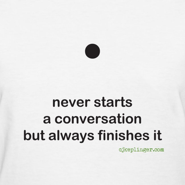 Punctuation Personality: Period fitted tee