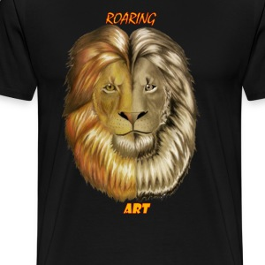 Roaring Art Regal Lion T-Shirts - Men's Premium T-Shirt