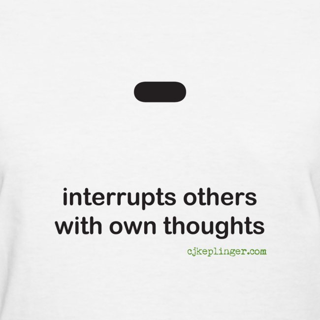 Punctuation Personality: Dash fitted tee