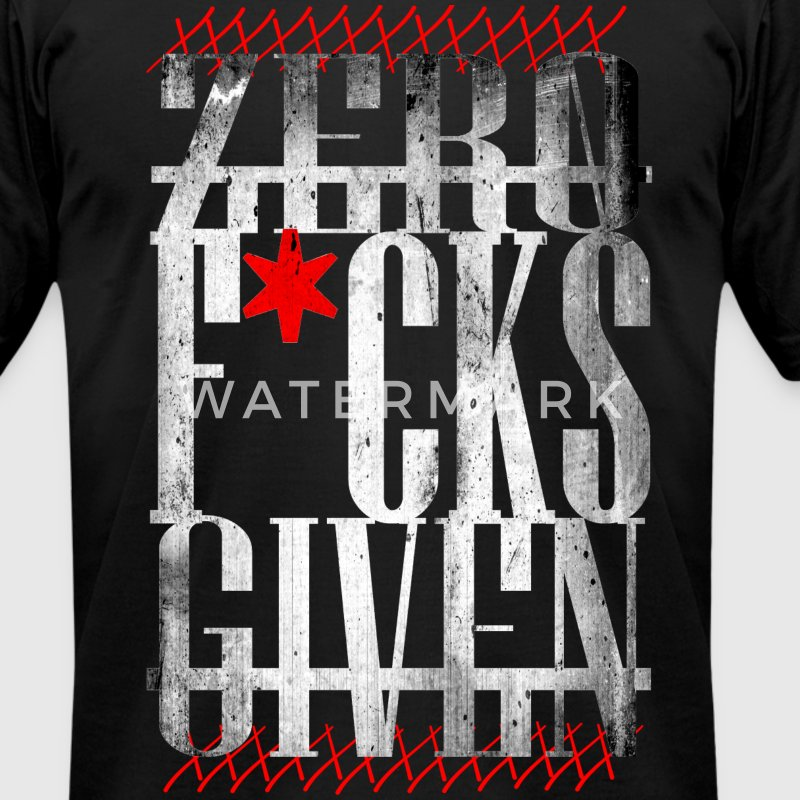 Zero F*cks Given - Men's T-Shirt by American Apparel