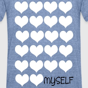 Love Love You Unisex Tri-Blend T-Shirt by American - Unisex Tri-Blend T-Shirt by American Apparel