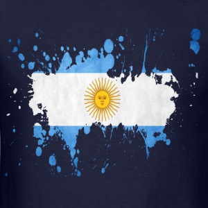 splatter argentina - Men's T-Shirt
