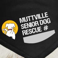 Design ~ Muttville's #3000 Milestone Commemorative bandana (wht on blk)