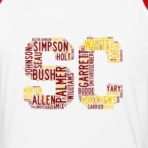 All Time SoCal Football Greats SC Design Men's Bas - Baseball T-Shirt