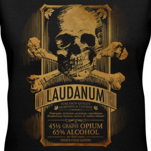 Steampunk Skull Medicine Label Doctor Goth - Women's V-Neck T-Shirt