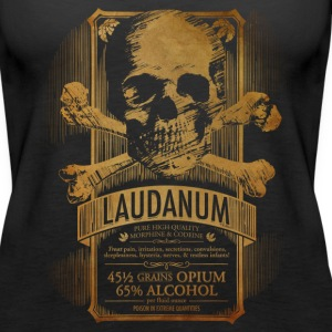 Steampunk Skull Medicine Label Doctor Goth - Women's Premium Tank Top