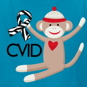 CVID Zebra Ribbon monkey Kids' Shirts - Kids' T-Shirt