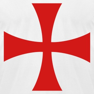 knights templar cross T-Shirts - Men's T-Shirt by American Apparel