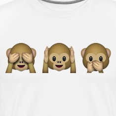 emoticon Monkey - See Hear Say No evil