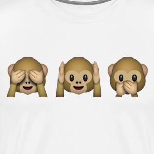 emoticon Monkey - See Hear Say No evil - Men's Premium T-Shirt