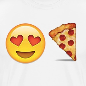 emoticon Love Pizza - Men's Premium T-Shirt