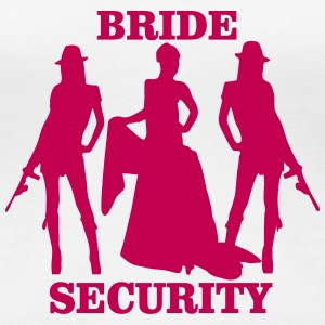 bride security Women's T-Shirts - Women's Premium T-Shirt