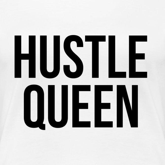 Women's Hustle Queen Black Text