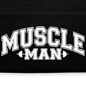 Muscle Man Caps - Knit Cap with Cuff Print