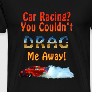 Racing Red Doorslammer Drag Car and Smoke - Men's Premium T-Shirt