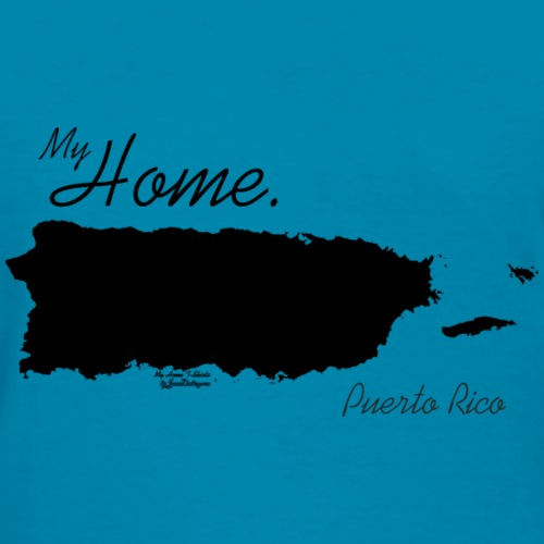 Home T Shirt, Puerto Rico - PR, PRI, Black