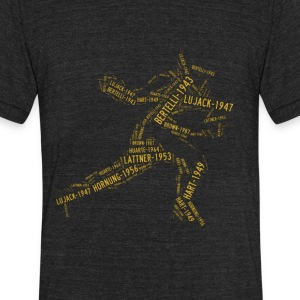 All Time Notre Dame Football Heisman Greats Unisex - Unisex Tri-Blend T-Shirt by American Apparel