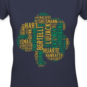 All Time Notre Dame Shamrock Football Greats Women - Women's V-Neck T-Shirt