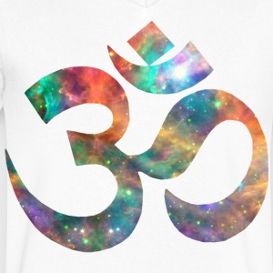 Cosmic Om T-Shirts - Men's V-Neck T-Shirt by Canvas