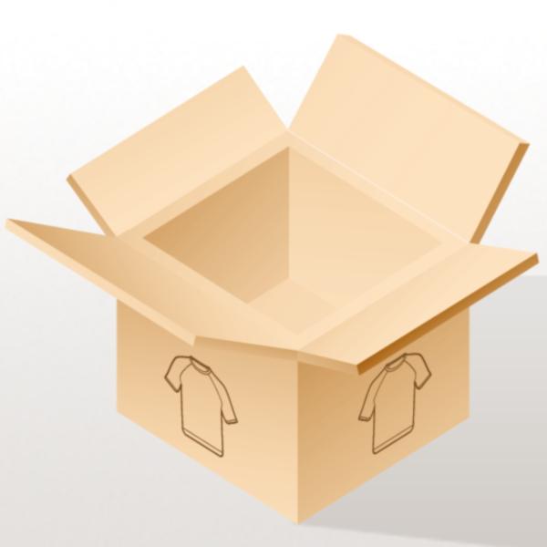 I Love Purple Pinstripes - Ladies Longer Length Fitted Tank