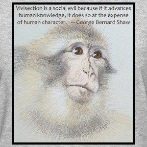 Anti-Vivisection T-shirt w/ quote & art - Women's T-Shirt