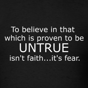 fear not faith - Men's T-Shirt