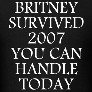 Britney Survived 2007 - Men's T-Shirt