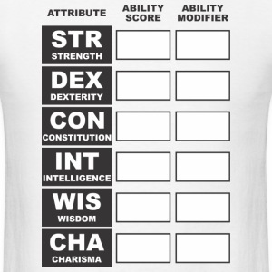 Dungeons & Dragons Character Sheet - Men's T-Shirt