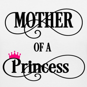 Mother of a Princess Women's T-Shirts - Women's V-Neck T-Shirt