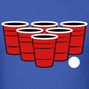 Beer Pong 3 Color Vector T-Shirts - Men's T-Shirt