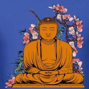 Buddha With Flowers - Men's T-Shirt