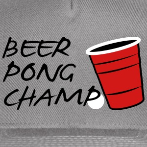 Beer Pong Champ 3 Color Vector Design. - Snap-back Baseball Cap