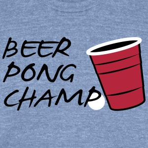 Beer Pong Champ 3 Color Vector - Unisex Tri-Blend T-Shirt by American Apparel