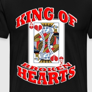 king f broken hearts T-Shirts - Men's Premium T-Shirt