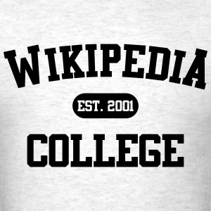 WIKIPEDIA COLLEGE MEN T-SHIRT - Men's T-Shirt