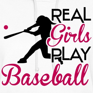 Real girls play baseball Hoodies - Women's Hoodie