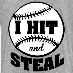 I hit and steal - baseball Kids' Shirts