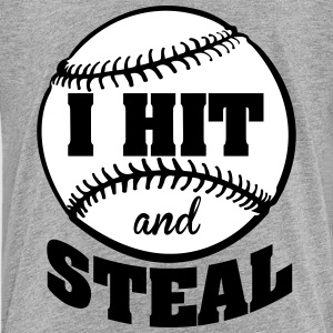 I hit and steal - baseball Kids' Shirts - Kids' Premium T-Shirt