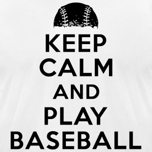 Keep calm and play baseball T-Shirts - Men's T-Shirt by American Apparel