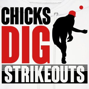 Chicks dig strikeouts - baseball Hoodies - Men's Hoodie