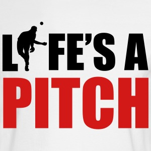 Life's a pitch Long Sleeve Shirts - Men's Long Sleeve T-Shirt