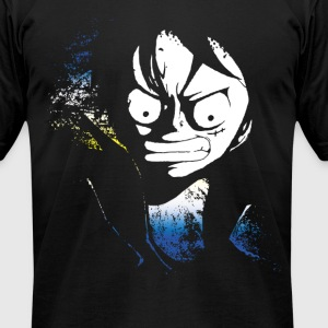 angry luffy grunge - Men's T-Shirt by American Apparel
